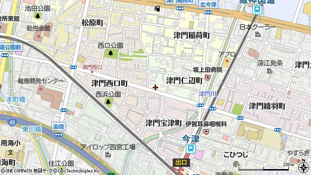 〒663-8246 兵庫県西宮市津門仁辺町の地図