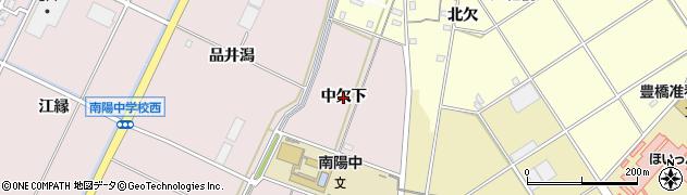 愛知県豊橋市駒形町(中欠下)周辺の地図