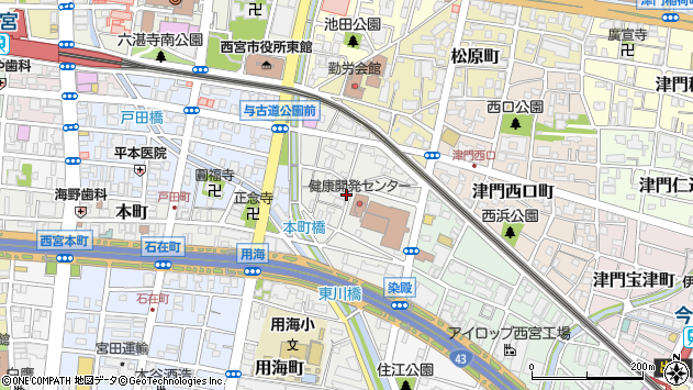 〒662-0913 兵庫県西宮市染殿町の地図