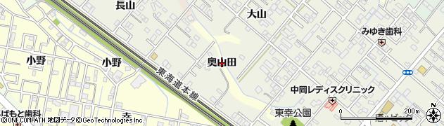 愛知県豊橋市高師町(奥山田)周辺の地図