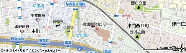 兵庫県西宮市染殿町周辺の地図