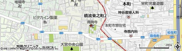 南詢寺周辺の地図