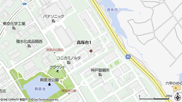 〒651-2271 兵庫県神戸市西区高塚台の地図