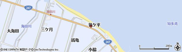 愛知県南知多町(知多郡)大井(笹ケ平)周辺の地図