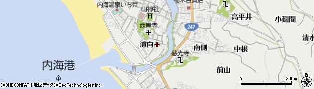 愛知県南知多町(知多郡)内海(浦向)周辺の地図