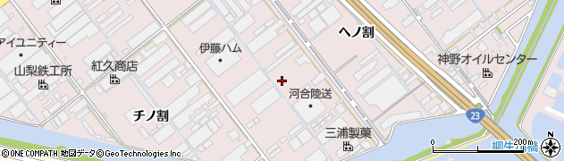 愛知県豊橋市神野新田町(トノ割)周辺の地図