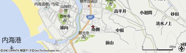 愛知県南知多町(知多郡)内海(南側)周辺の地図