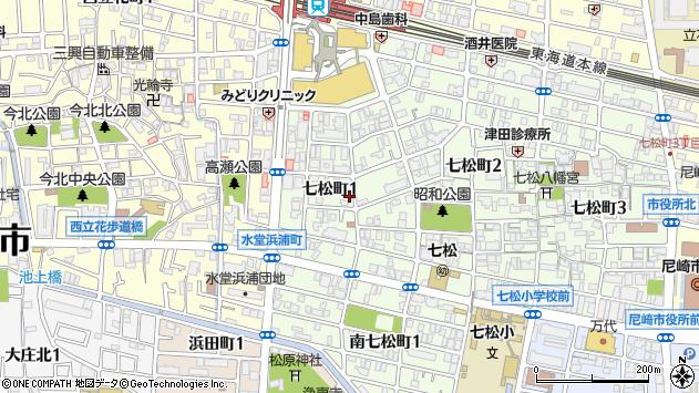 〒660-0052 兵庫県尼崎市七松町の地図