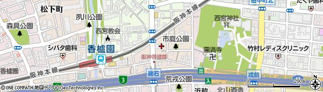 兵庫県西宮市市庭町の地図 住所一覧検索|地図マピオン