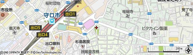 大枝神社周辺の地図