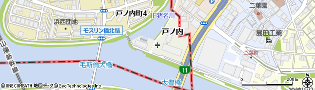 兵庫県尼崎市戸ノ内周辺の地図