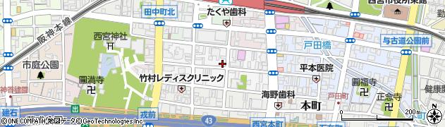兵庫県西宮市馬場町周辺の地図