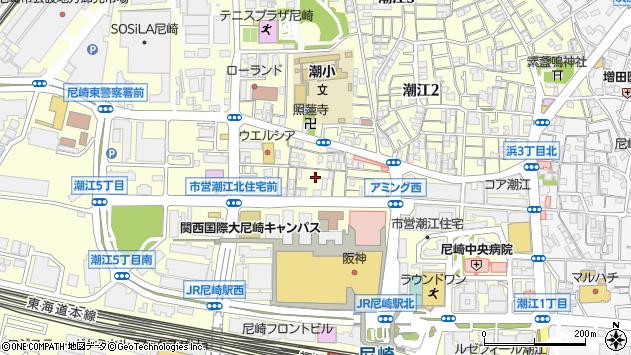 〒661-0976 兵庫県尼崎市潮江(その他)の地図