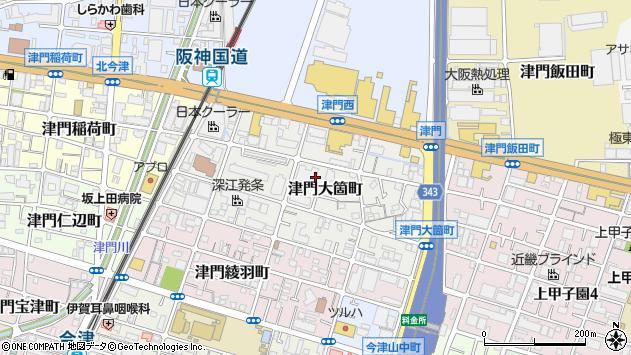 〒663-8243 兵庫県西宮市津門大箇町の地図