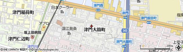 兵庫県西宮市津門大箇町周辺の地図