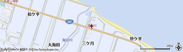 愛知県南知多町(知多郡)大井(三ケ月)周辺の地図