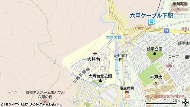 〒657-0017 兵庫県神戸市灘区大月台の地図