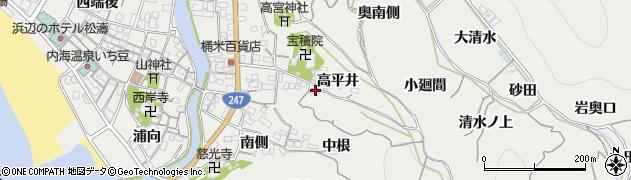 愛知県南知多町(知多郡)内海(中根)周辺の地図