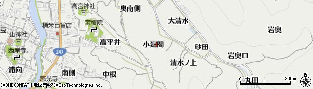 愛知県南知多町(知多郡)内海(小廻間)周辺の地図