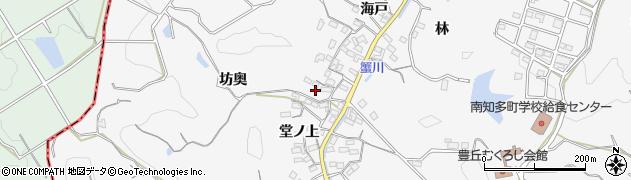 愛知県南知多町(知多郡)豊丘(坊奥)周辺の地図