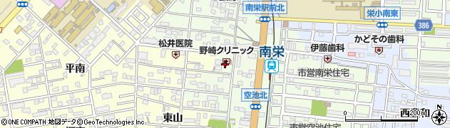 愛知県豊橋市南栄町(東山)周辺の地図