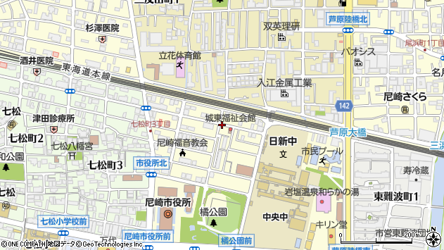 〒660-0051 兵庫県尼崎市東七松町の地図