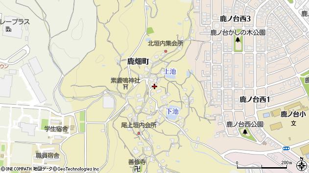 〒630-0115 奈良県生駒市鹿畑町の地図
