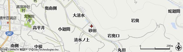 愛知県南知多町(知多郡)内海(砂田)周辺の地図