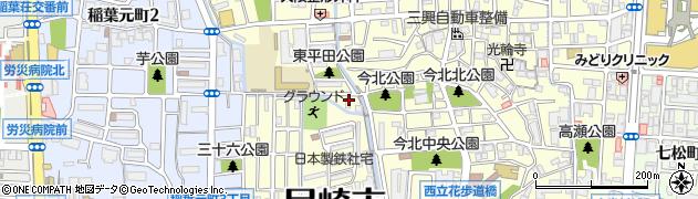 兵庫県尼崎市西立花町4丁目周辺の地図