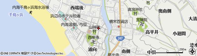 愛知県南知多町(知多郡)内海(本田)周辺の地図