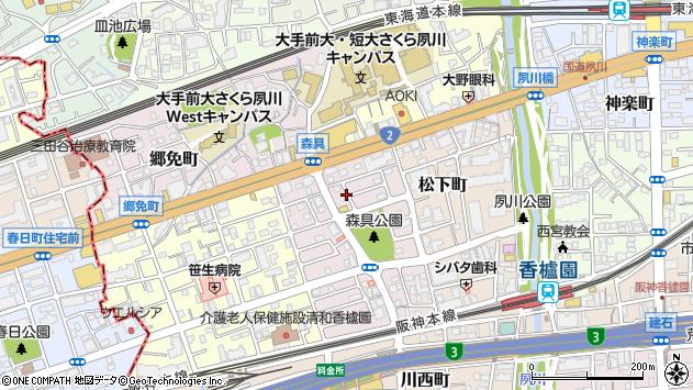 〒662-0963 兵庫県西宮市屋敷町の地図