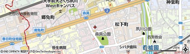 兵庫県西宮市屋敷町周辺の地図