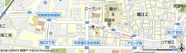 兵庫県尼崎市潮江周辺の地図