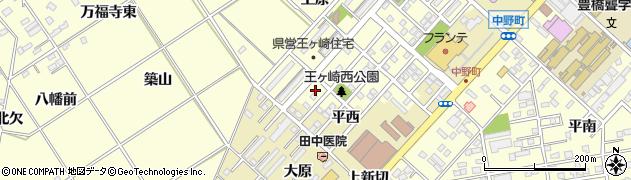愛知県豊橋市王ヶ崎町(甲垂)周辺の地図