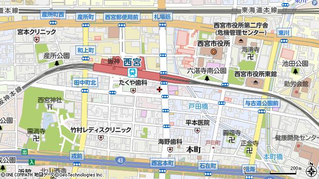 〒662-0972 兵庫県西宮市今在家町の地図