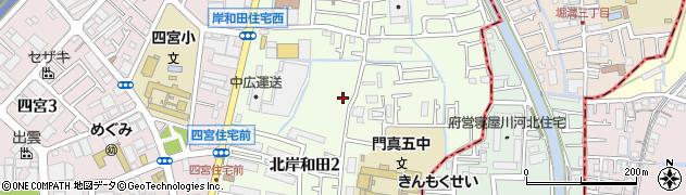 大阪府門真市北岸和田周辺の地図
