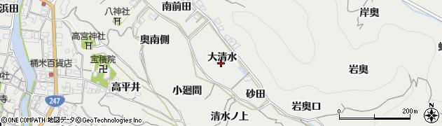 愛知県南知多町(知多郡)内海(大清水)周辺の地図