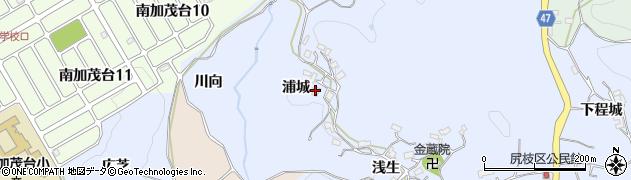 京都府木津川市加茂町尻枝(浦城)周辺の地図