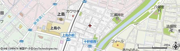 静岡県浜松市中区十軒町周辺の地図