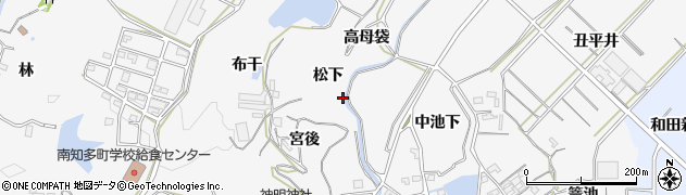 愛知県南知多町(知多郡)豊丘周辺の地図