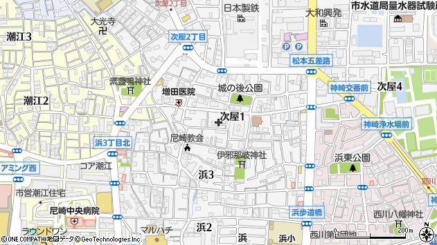〒661-0965 兵庫県尼崎市次屋の地図