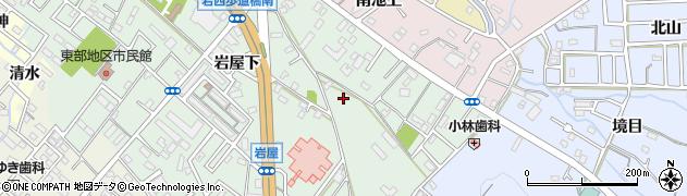 愛知県豊橋市岩屋町周辺の地図
