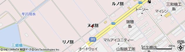 愛知県豊橋市神野新田町(ヌノ割)周辺の地図