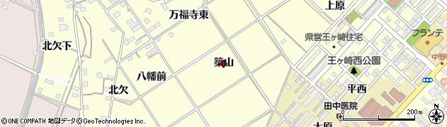 愛知県豊橋市王ヶ崎町(築山)周辺の地図