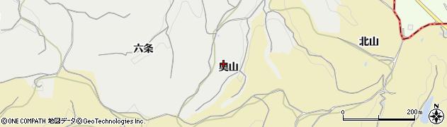愛知県南知多町(知多郡)内海(奥山)周辺の地図