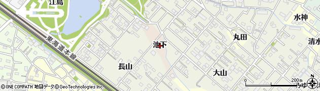 愛知県豊橋市佐藤町(池下)周辺の地図