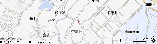 愛知県南知多町(知多郡)豊丘(中池下)周辺の地図