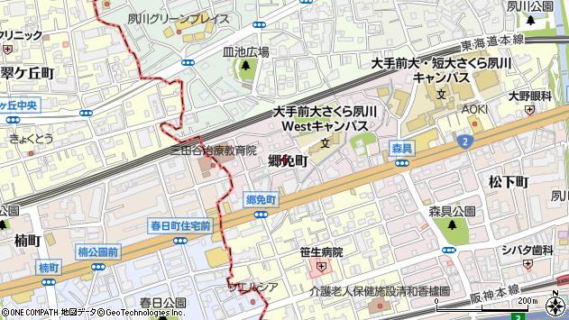 〒662-0965 兵庫県西宮市郷免町の地図