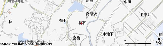 愛知県南知多町(知多郡)豊丘(松下)周辺の地図