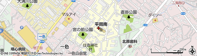 兵庫県加古川市平岡町一色東周辺の地図